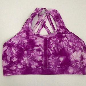 Other - Tie Dye Sports Bra With Lattice Back Size Large